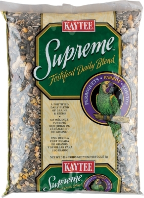 Kaytee Supreme Parrot Fortified Daily Blend, 5 lbs