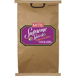 Kaytee Supreme Splash Cockatiel Food, 50 lb