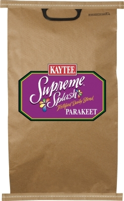 Kaytee Supreme Splash Fortified Daily Blend, Parakeet, 25 lbs