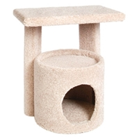 "Kitty Condo with Perch, 19"" x 13.5"" x 20.5"""
