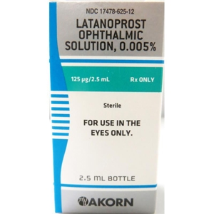 Latanoprost Ophthalmic Solution 0.005%, 2.5 ml