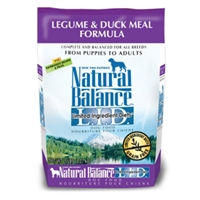 Legume & Duck Formula Dog Food, 5 lb - 4 Pack