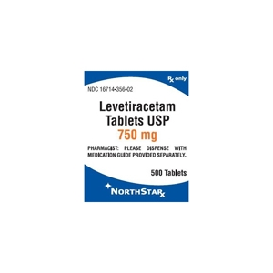 Levetiracetam 750 mg, 30 Tablets
