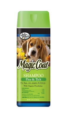 Magic Coat Flea & Tick Shampoo for Dogs & Cats, 16 oz