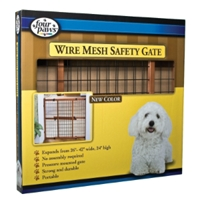 "Mahogany Wood Frame Wire Mesh Gate, 24"" x 26"""