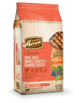 Merrick Classic Real Beef with Whole Barley & Carrot Dry Dog Food Recipe, 30 lbs