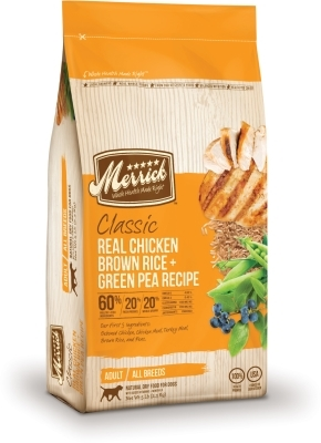 Merrick Classic Real Chicken with Brown Rice & Green Pea Dry Dog Food Recipe, 5 lbs