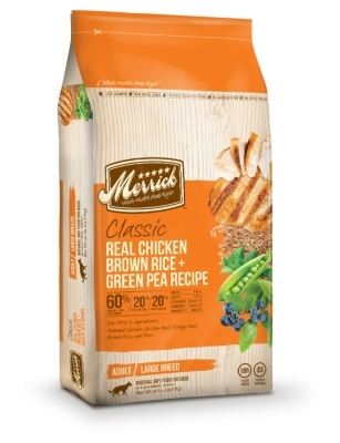 Merrick Classic Real Chicken with Brown Rice & Green Pea Large Breed Dry Dog Food Recipe, 30 lbs