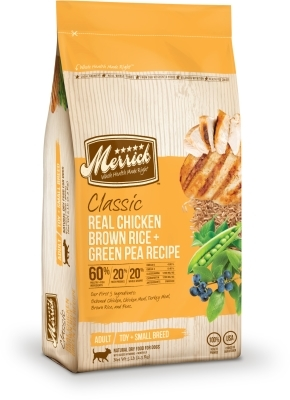Merrick classic real chicken with brown rice green pea small breed merrick classic real chicken with brown rice amp green pea small breed dry dog food forumfinder Image collections