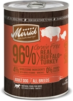 Merrick Grain-Free 96% Real Beef + Lamb + Buffalo Canned Dog Food, 13 oz, 12 Pack