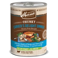 Merrick Grain-Free Chunky Carvers Delight Dinner Canned Dog Food, 12.7 oz, 12 Pack