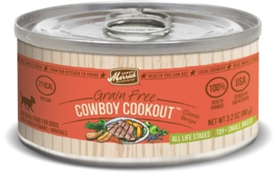Merrick Grain-Free Cowboy Cookout Small Breed Canned Dog Food, 3.2 oz, 24 Pack