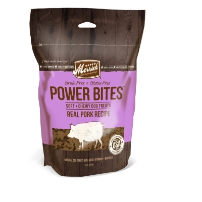 Merrick Grain-Free Power Bites Dog Treats, Pork Recipe, 6 oz
