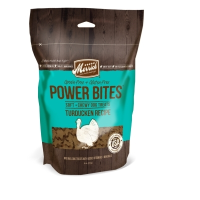 Merrick Grain-Free Power Bites Dog Treats, Turducken Recipe, 6 oz