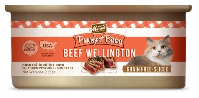 Merrick Grain-Free Purrfect Bistro Beef Wellington Canned Cat Food, 5.5 oz, 24 Pack