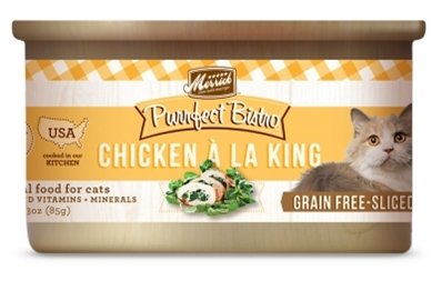 Merrick Grain-Free Purrfect Bistro Chicken A La King Canned Cat Food, 3 oz, 24 Pack