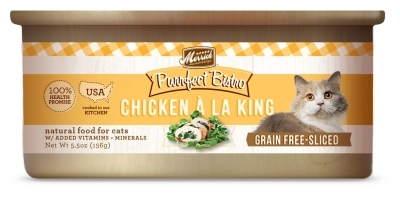 Merrick Grain-Free Purrfect Bistro Chicken A La King Canned Cat Food, 5.5 oz, 24 Pack