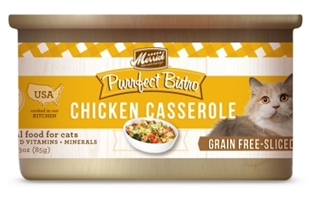 Merrick Grain-Free Purrfect Bistro Chicken Casserole Canned Cat Food, 3 oz, 24 Pack