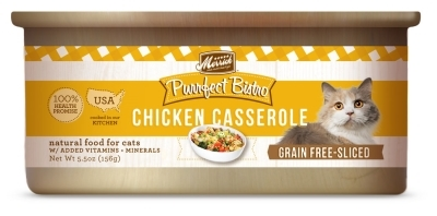 Merrick Grain-Free Purrfect Bistro Chicken Casserole Canned Cat Food, 5.5 oz, 24 Pack