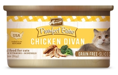 Merrick Grain-Free Purrfect Bistro Chicken Divan Canned Cat Food, 3 oz, 24 Pack