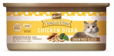 Merrick Grain-Free Purrfect Bistro Chicken Divan Canned Cat Food, 5.5 oz, 24 Pack