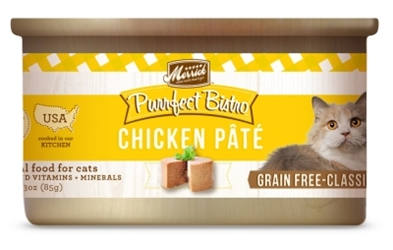 Merrick Grain-Free Purrfect Bistro Chicken Pate Canned Cat Food, 3 oz, 24 Pack