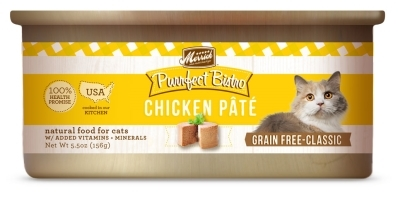 Merrick Grain-Free Purrfect Bistro Chicken Pate Canned Cat Food, 5.5 oz, 24 Pack