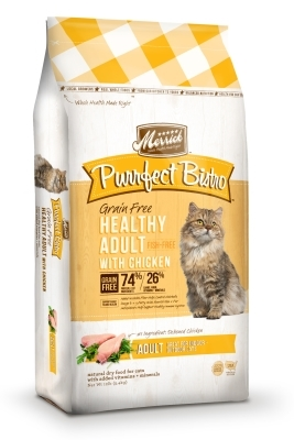 Merrick Grain-Free Purrfect Bistro Healthy Adult Chicken Dry Cat Food Recipe, 12 lbs