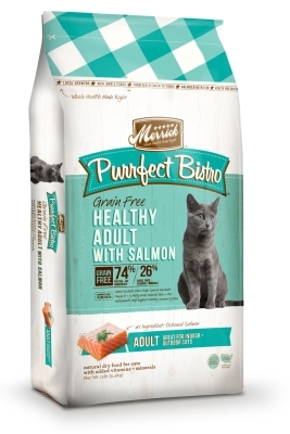 Merrick Grain-Free Purrfect Bistro Healthy Adult Salmon Dry Cat Food Recipe, 12 lbs