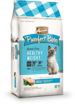 Merrick Grain-Free Purrfect Bistro Healthy Weight Dry Cat Food Recipe, 12 lbs