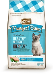 Merrick Grain-Free Purrfect Bistro Healthy Weight Dry Cat Food Recipe, 4 lbs
