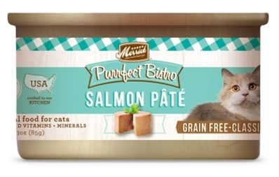Merrick Grain-Free Purrfect Bistro Salmon Pate Canned Cat Food, 3 oz, 24 Pack