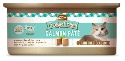Merrick Grain-Free Purrfect Bistro Salmon Pate Canned Cat Food, 5.5 oz, 24 Pack