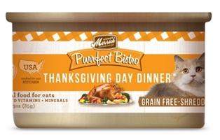Merrick Grain-Free Purrfect Bistro Thanksgiving Day Dinner Canned Cat Food, 3 oz, 24 Pack