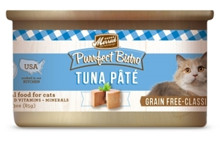 Merrick Grain-Free Purrfect Bistro Tuna Pate Canned Cat Food, 3 oz, 24 Pack