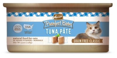 Merrick Grain-Free Purrfect Bistro Tuna Pate Canned Cat Food, 5.5 oz, 24 Pack
