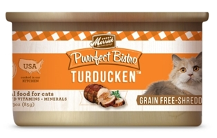 Merrick Grain-Free Purrfect Bistro Turducken Canned Cat Food, 3 oz, 24 Pack
