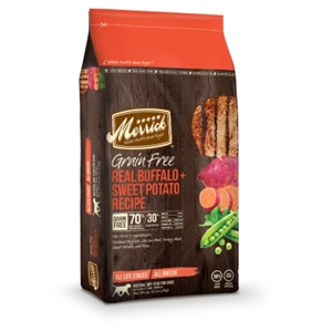 Merrick Grain Free Real Buffalo & Sweet Potato Dog Food, 25 lb