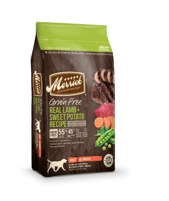 Merrick Grain-Free Real Lamb & Sweet Potato Recipe Dry Dog Food Recipe, 25 lbs