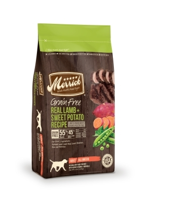 Merrick Grain-Free Real Lamb & Sweet Potato Recipe Dry Dog Food Recipe, 4 lbs