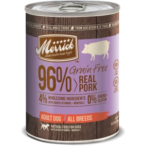 Merrick Grain Free Real Pork Canned Dog Food, 13.2 oz - 12 Pack