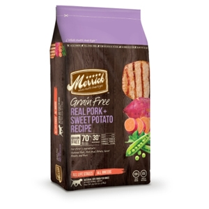 Merrick Grain Free Real Pork & Sweet Potato Dog Food, 25 lb