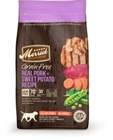 Merrick Grain-Free Real Pork & Sweet Potato Dry Dog Food Recipe, 4 lbs