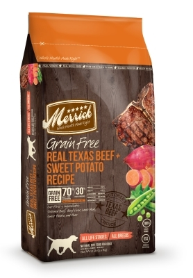 Merrick Grain-Free Real Texas Beef & Sweet Potato Dry Dog Food Recipe, 12 lbs
