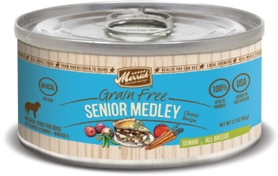 Merrick Grain-Free Senior Medley Canned Dog Food, 3.2 oz, 24 Pack