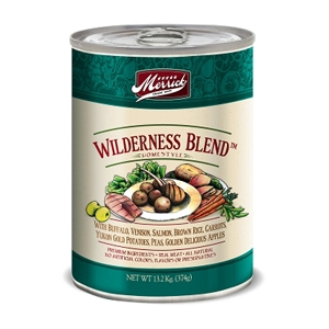 Merrick Grain Free Wilderness Blend Canned Dog Food, 13.2 oz - 12 Pack