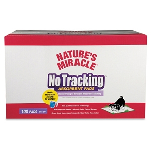 Nature's Miracle No Tracking Absorbent Pads, 100 ct