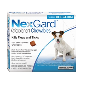 Nexgard for Dogs 10.1 - 24.0 lbs, 3  Month Supply