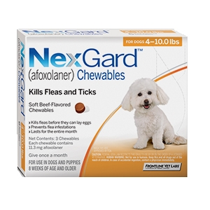 Nexgard for Dogs 4 - 10.0 lbs, 3 Month Supply
