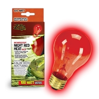 Night Red Heat Incandescent Bulb 100W Boxed